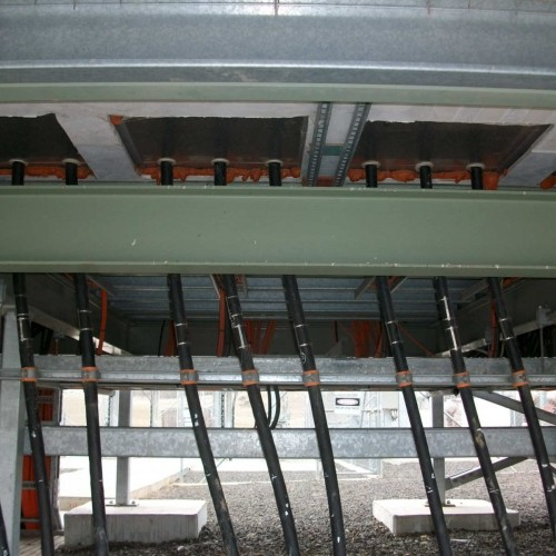 33kV Cables Entering Wind Farm Switchboard