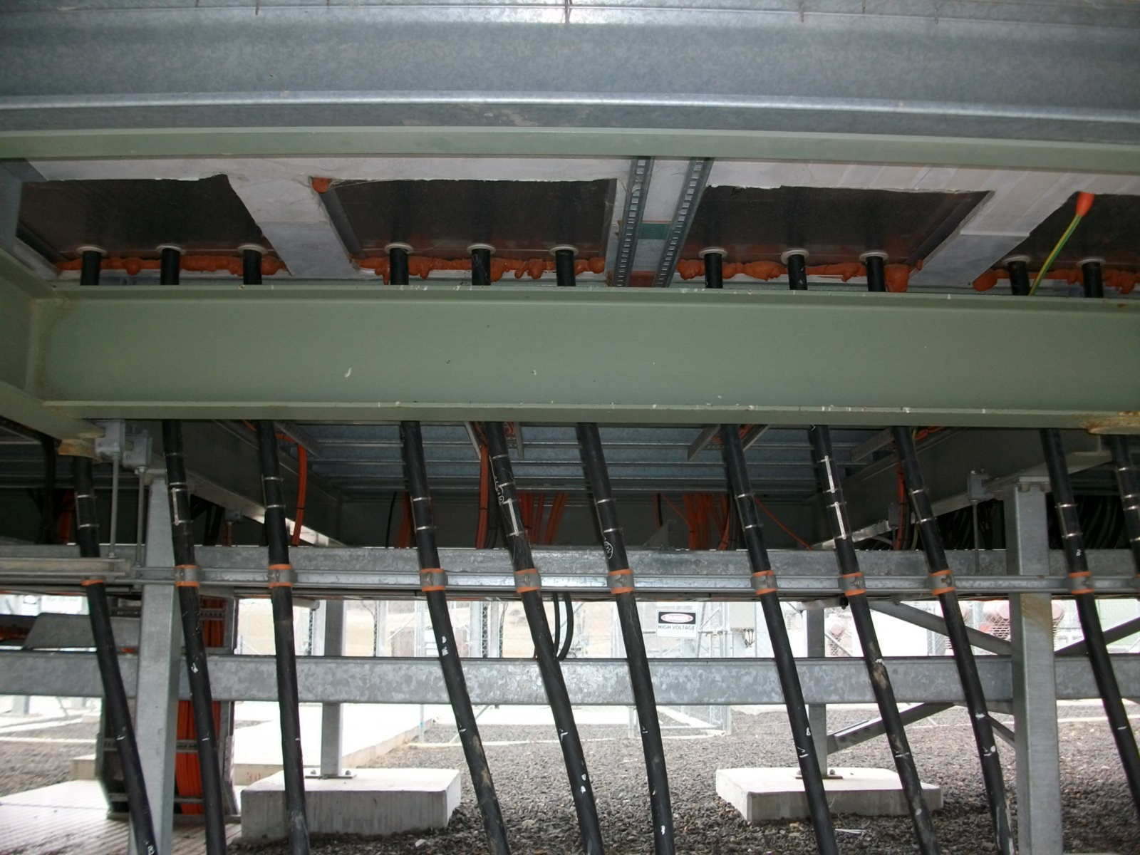 33kV Cables Entering Switchboard